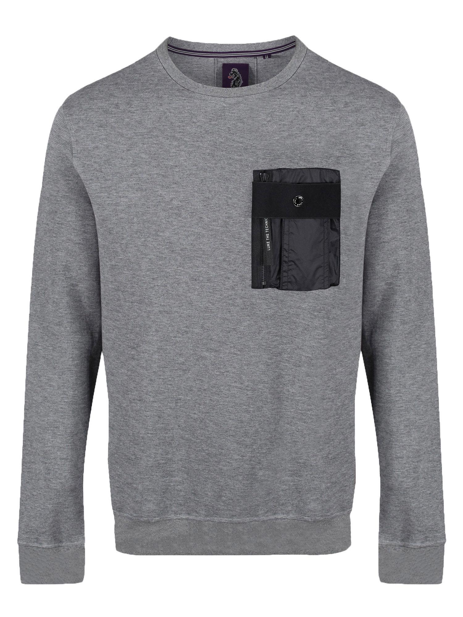 LUKE 1977 O Levels Pocket Detail Sweatshirt