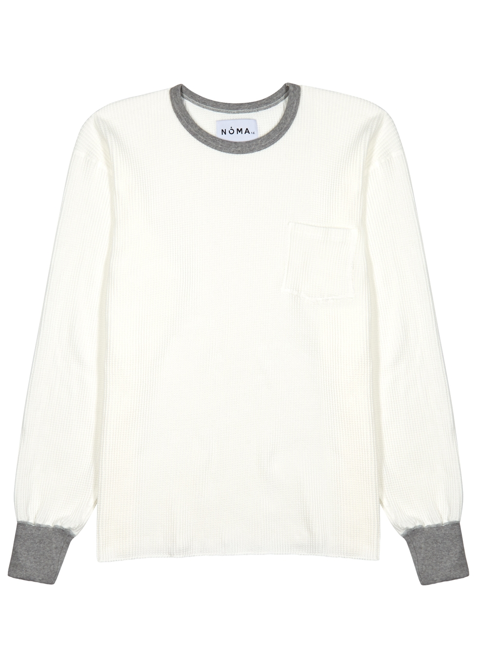 NOMA T.D OFF-WHITE WAFFLE-KNIT TOP