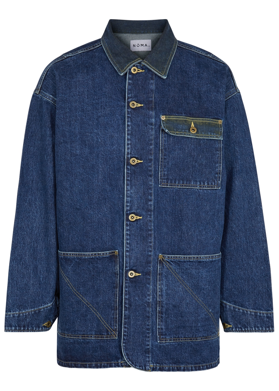 NOMA T.D Dark Blue Distressed Denim Jacket