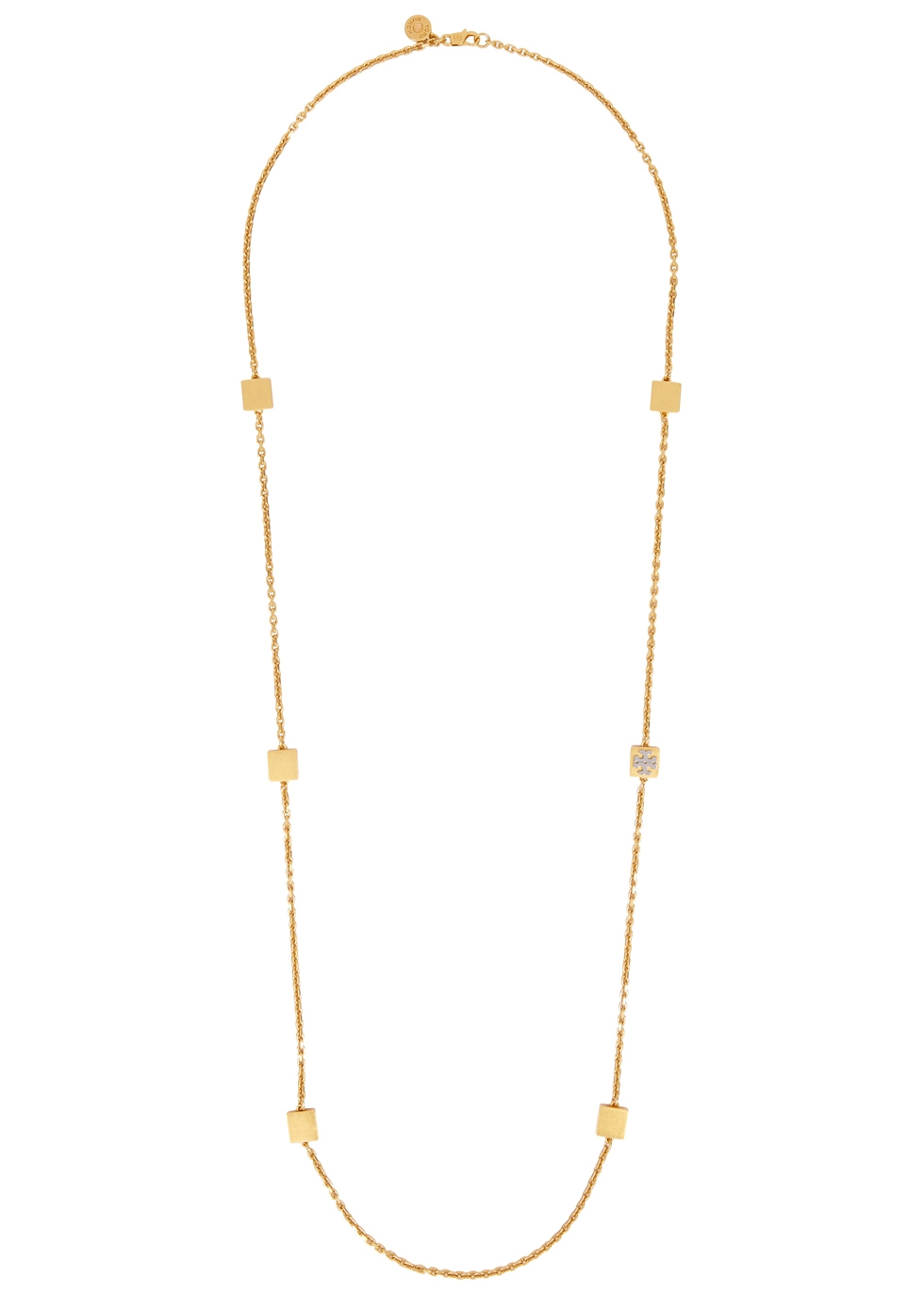 TORY BURCH GOLD-TONE LOGO NECKLACE