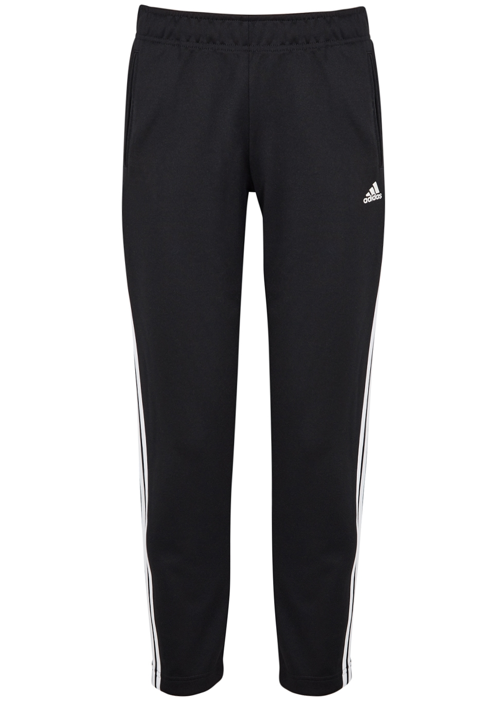 ADIDAS TRAINING Adidas Training Snap Cropped Jersey Sweatpants in Black And White