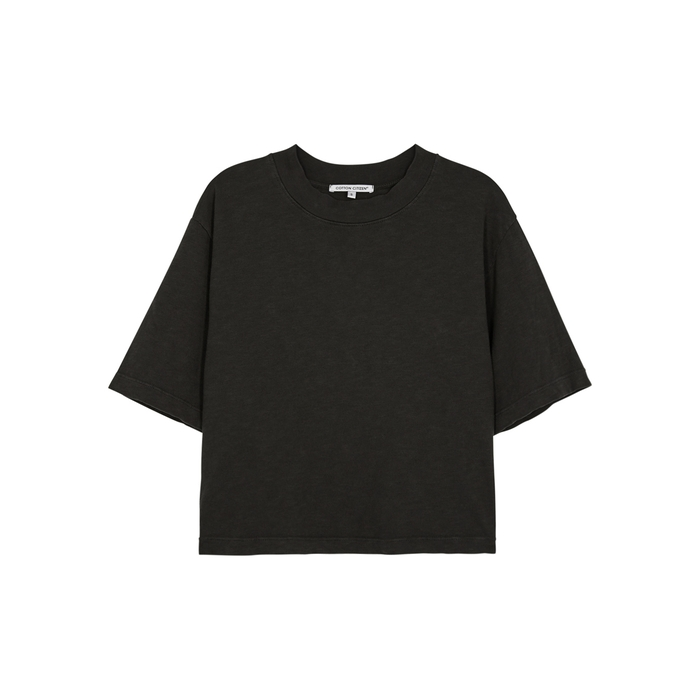 Cotton Citizen TOKYO CROPPED COTTON T-SHIRT