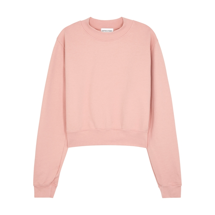 Cotton Citizen MILAN LIGHT PINK COTTON SWEATSHIRT