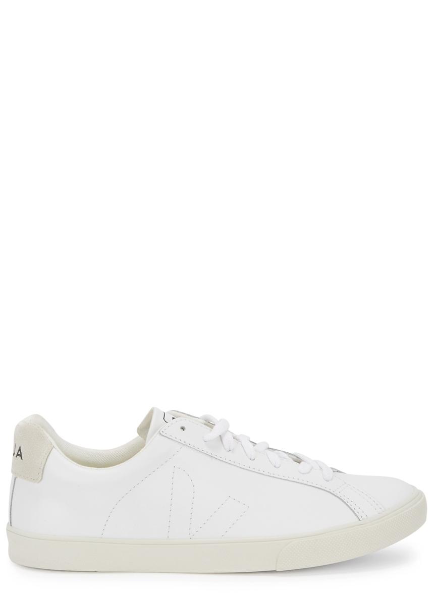 090245766ad3d Esplar white leather trainers ...