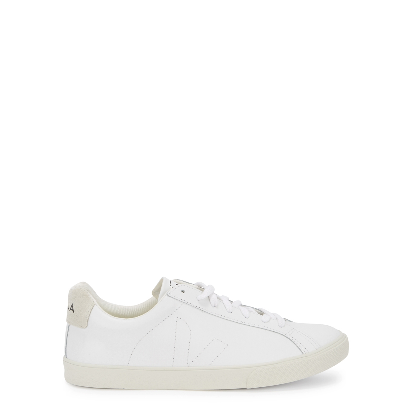 5f7e4d26a59 Esplar white leather trainers