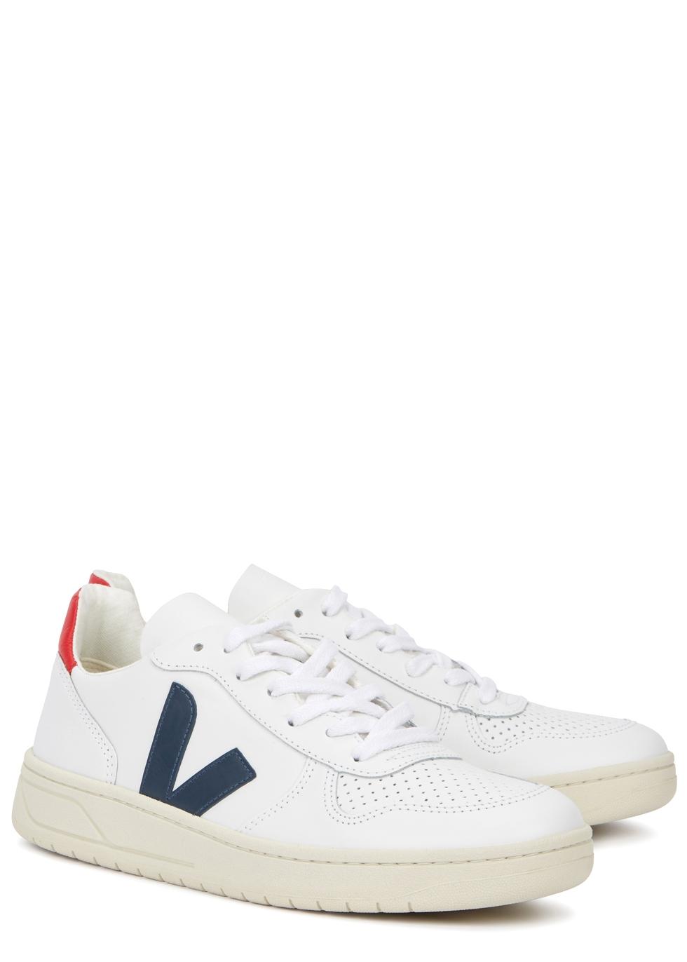 Veja V-10 white leather sneakers