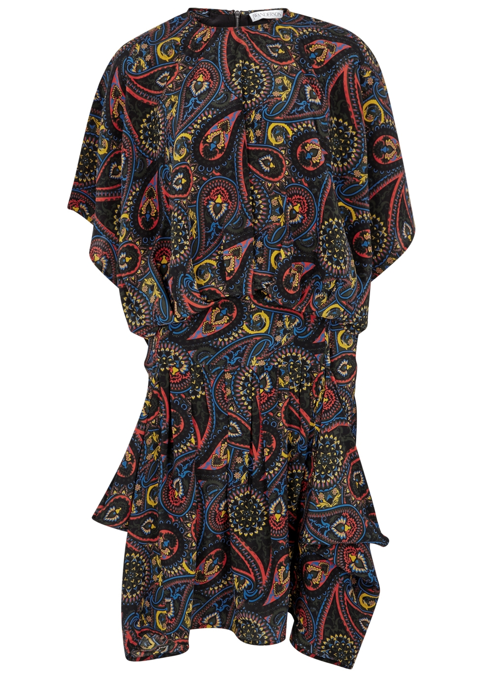 J.W.ANDERSON PRINTED SILK CREPE DE CHINE DRESS