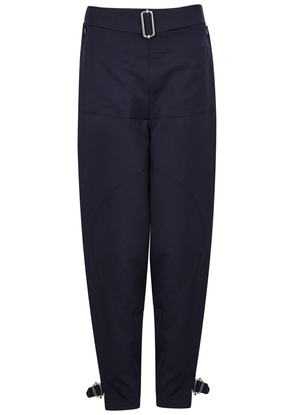 J.W.ANDERSON NAVY WOOL TROUSERS