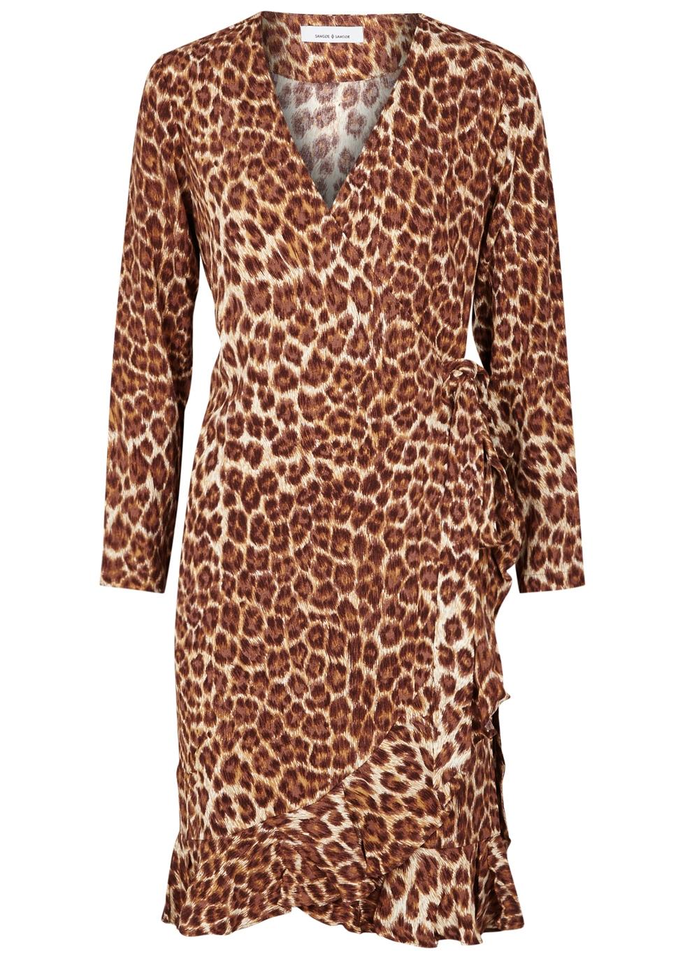 SAMS0E & SAMS0E Limon Leopard-Print Wrap Dress