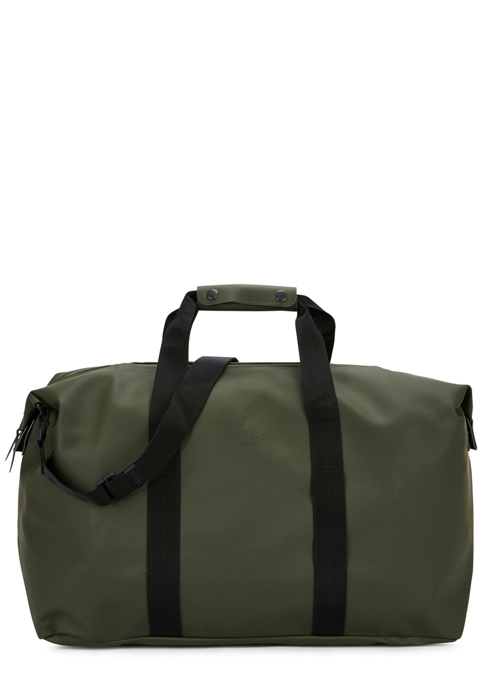 RAINS ARMY GREEN RUBBERISED HOLDALL