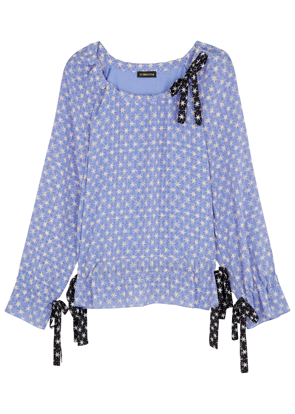 STINE GOYA MALLOW BLUE STAR-PRINT TOP