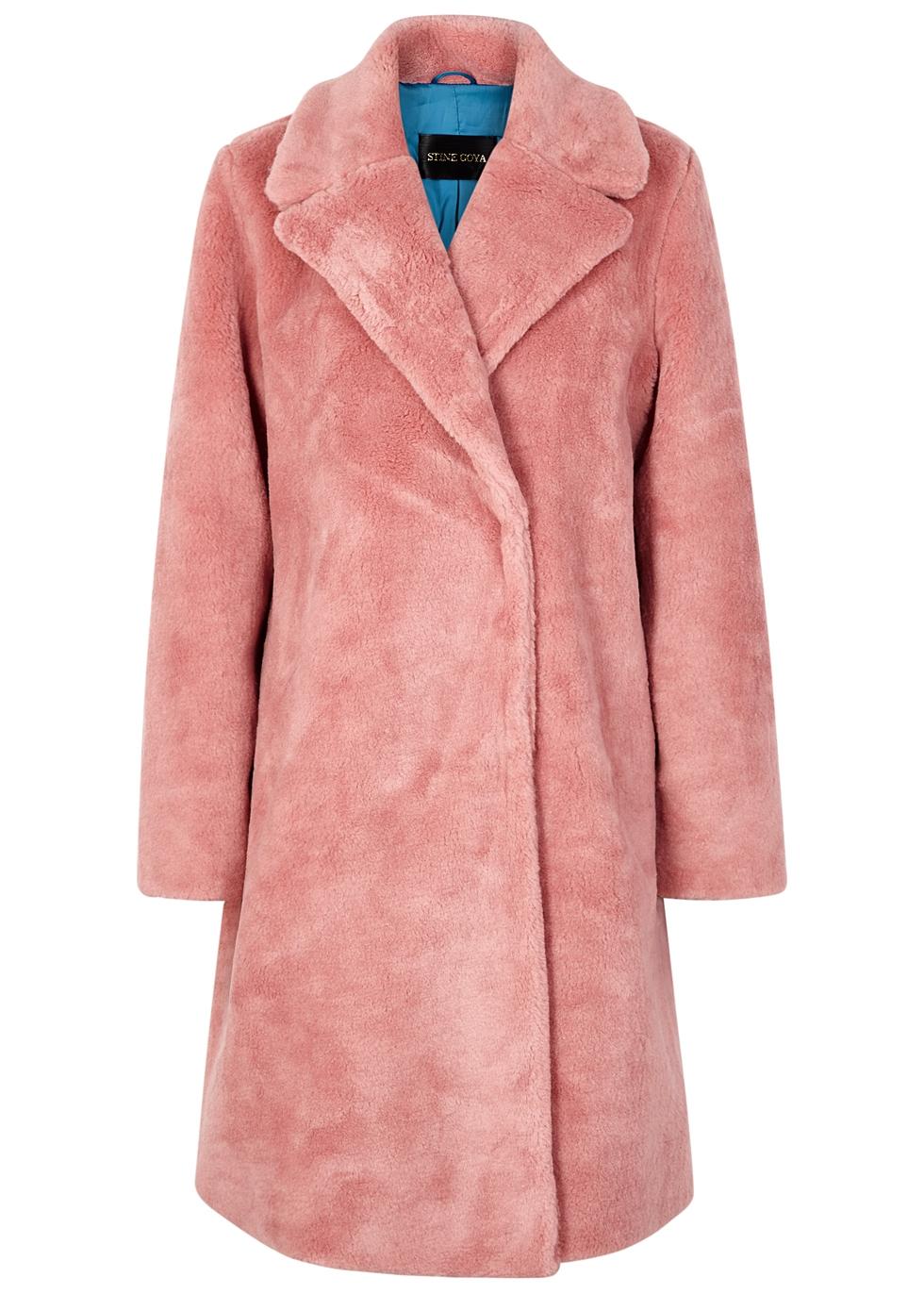 STINE GOYA Concord Pink Faux-Fur Coat