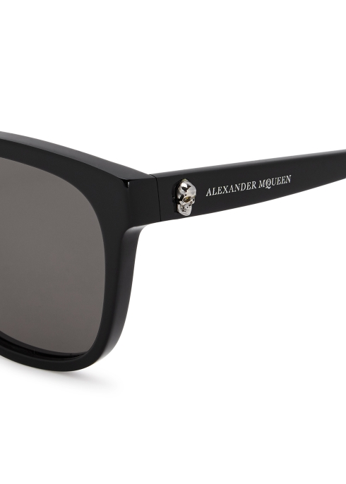 a3150e1085 Alexander McQueen Black wayfarer-style sunglasses - Harvey Nichols