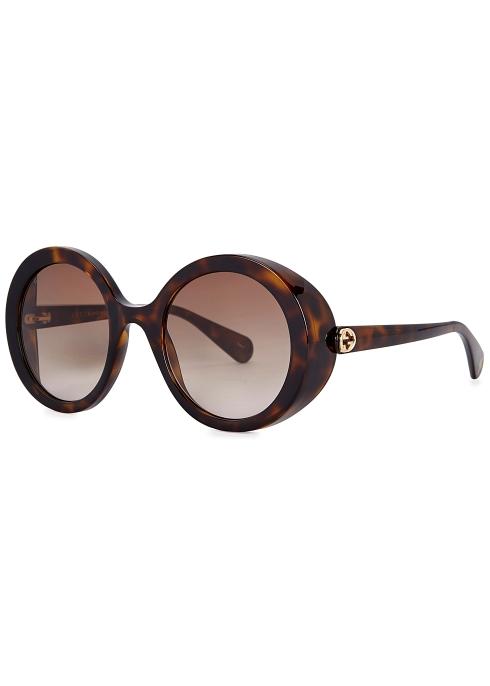 b197a3be65a Gucci Tortoiseshell round-frame sunglasses - Harvey Nichols