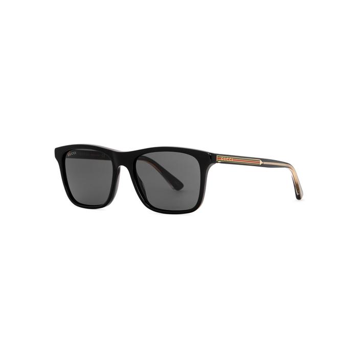 38403d80c2 Shop Gucci Black Wayfarer-Style Sunglasses