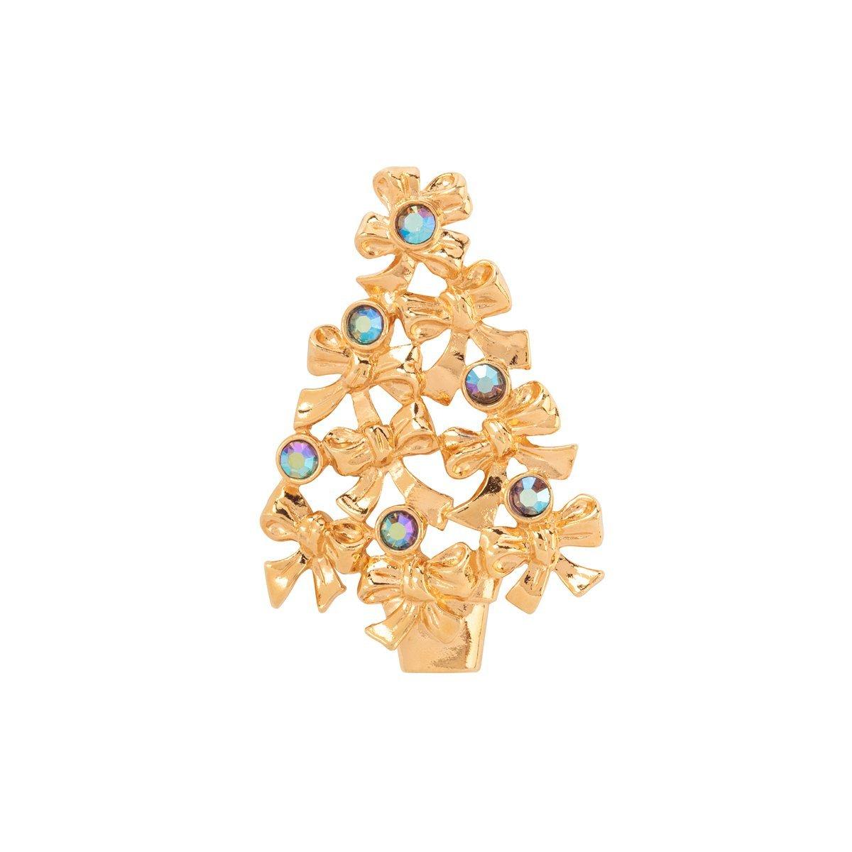 1970S VINTAGE AVON CHRISTMAS TREE BROOCH