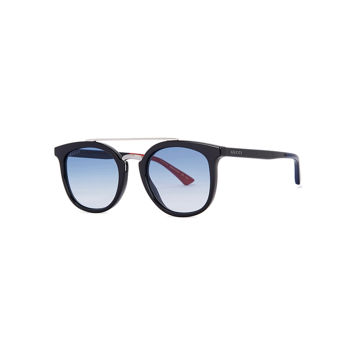 Gucci Black Aviator-style Sunglasses