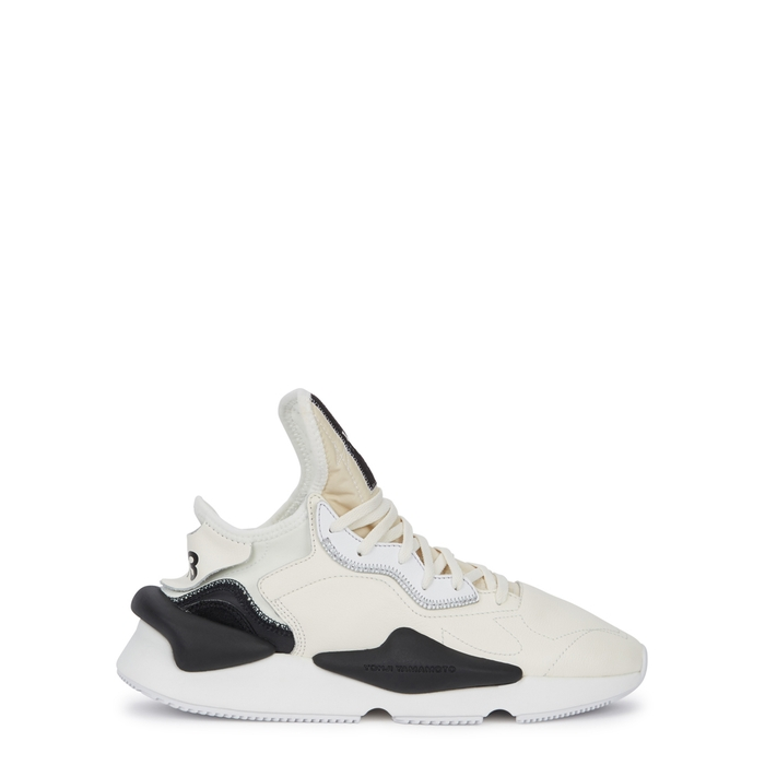 Y-3 Kaiwa Off-white Leather Trainers