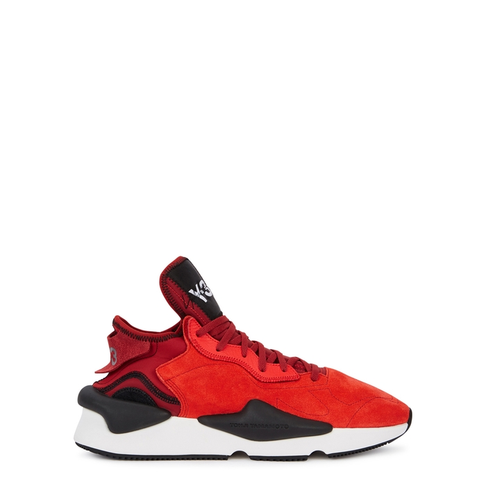 Y-3 Kaiwa Red Suede Trainers