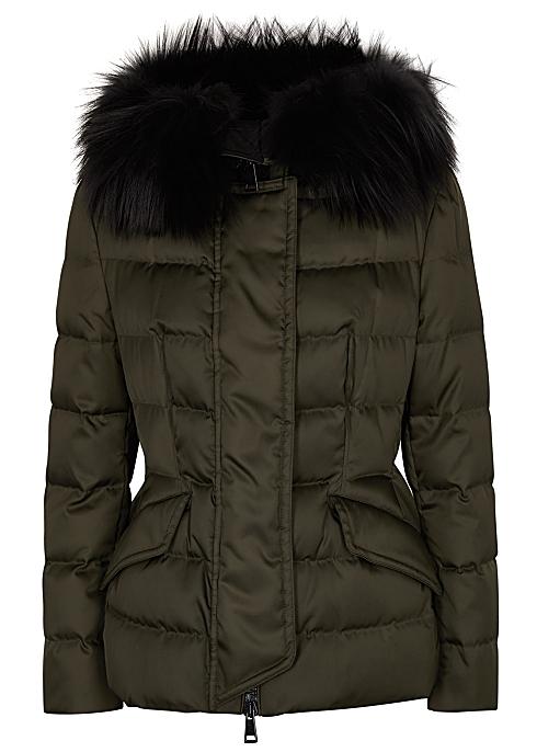 249ce8602 Moncler Sterne fur-trimmed shell jacket - Harvey Nichols