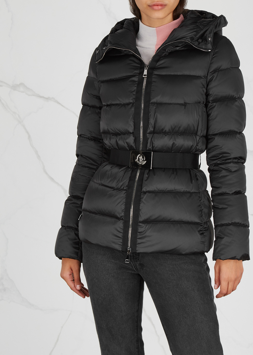 Tatie black fur-trimmed jacket - Moncler