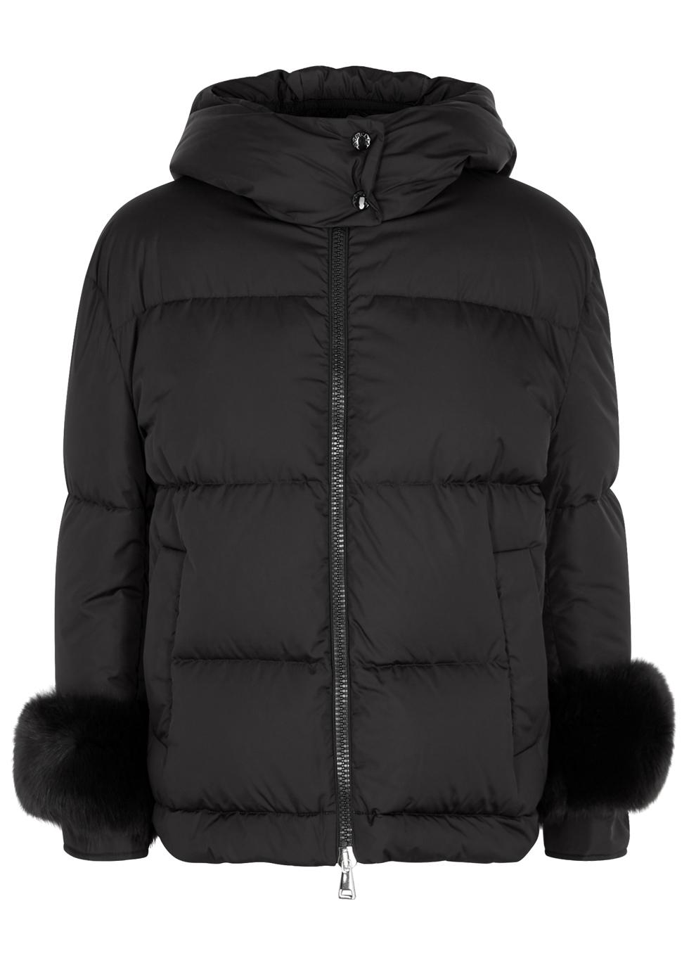 Effraie fur-trimmed shell jacket ...