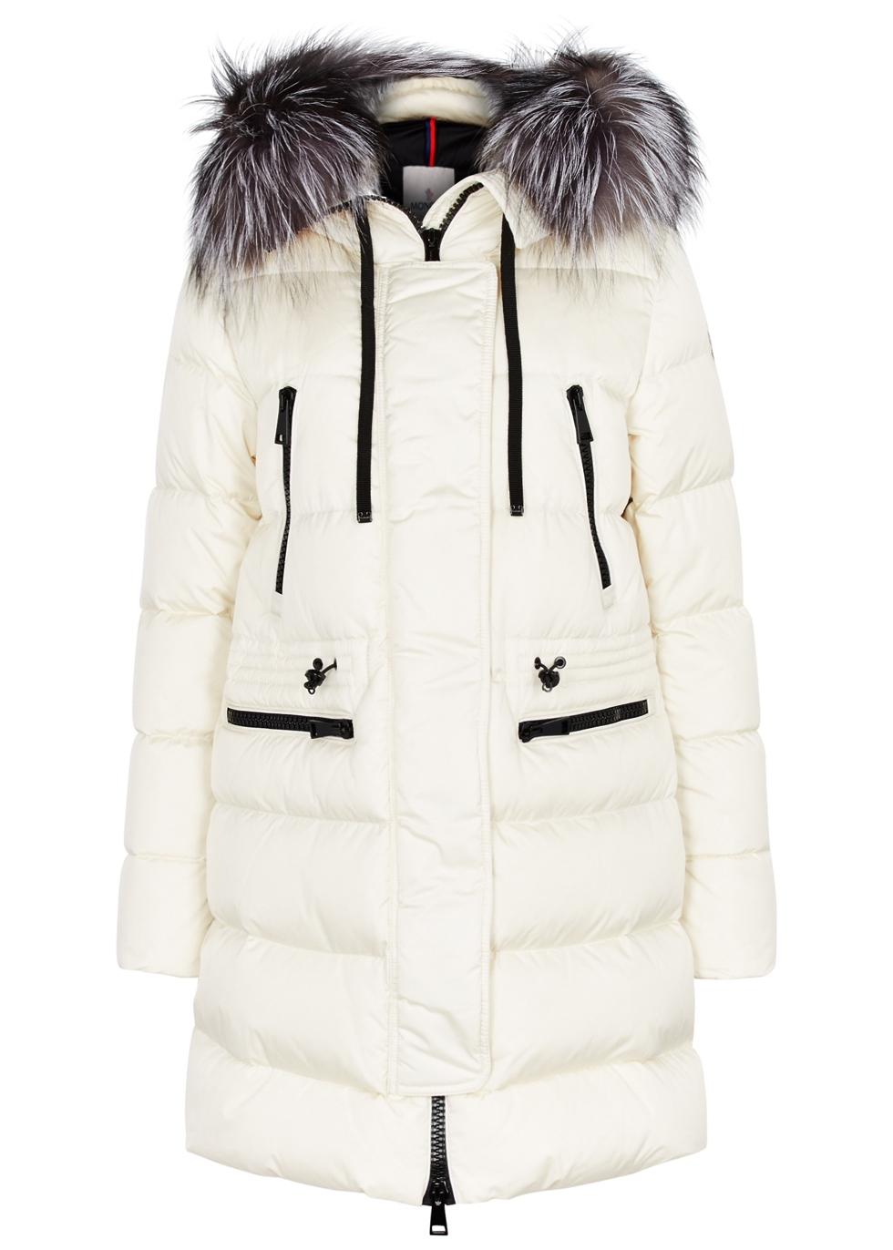 Aphrotiti cream fur-trimmed shell coat - Moncler