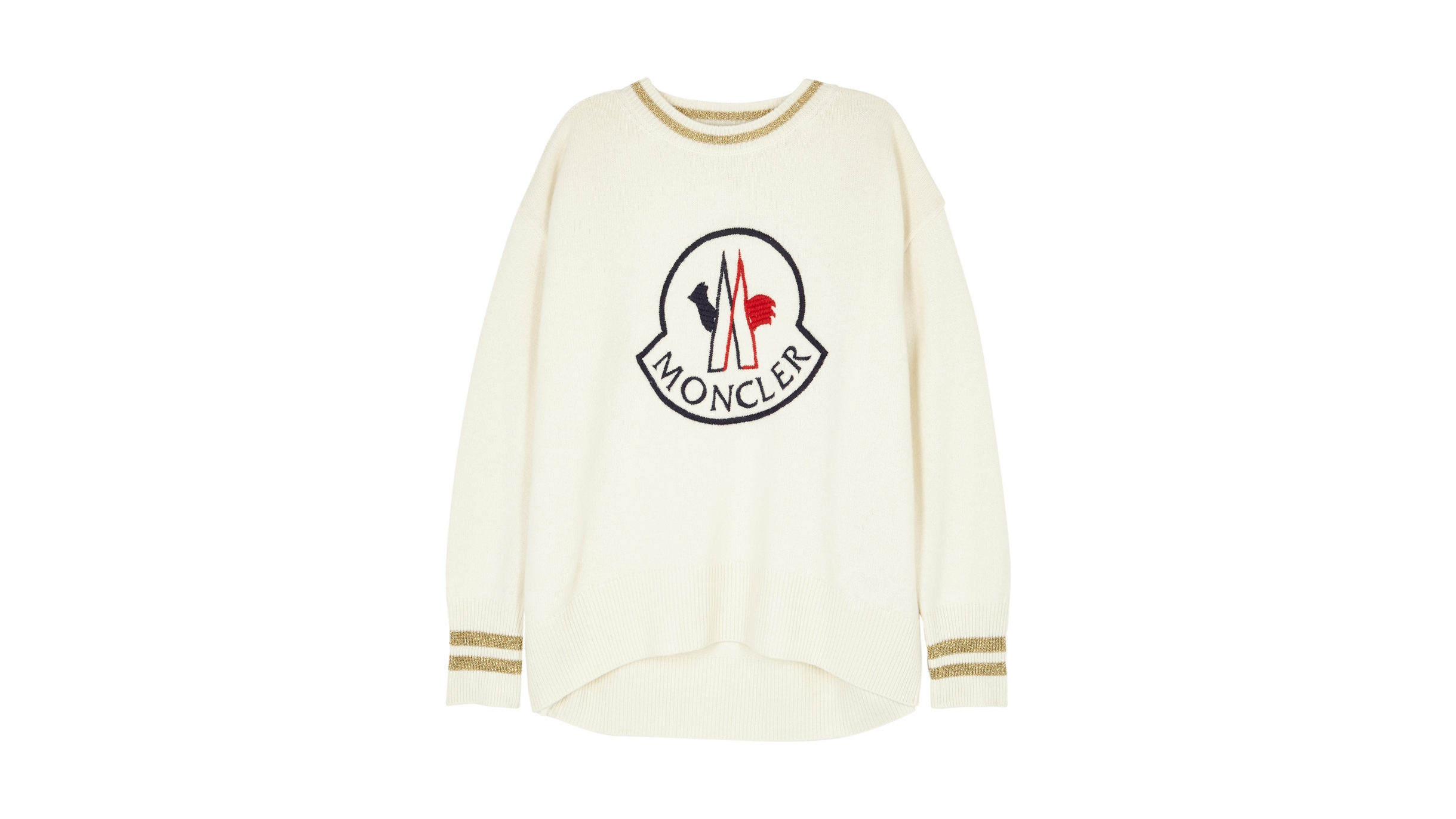 78aab16d714 Ivory logo-embroidered jumper
