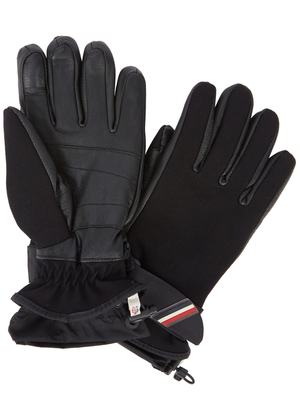 66f8d2ef6185 Moncler Leather Gloves - Womens - Harvey Nichols