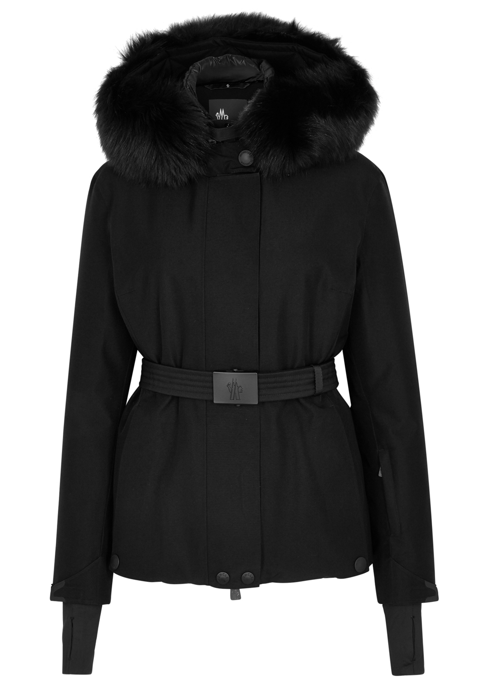 LAPLANCE FUR-TRIMMED NYLON JACKET
