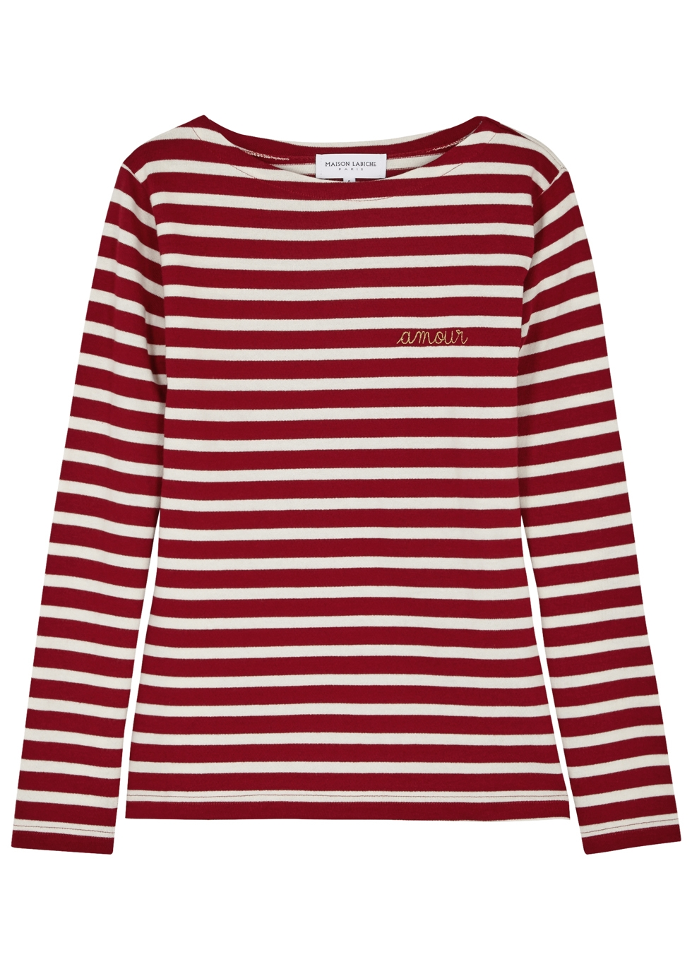 MAISON LABICHE Oh La La Striped Cotton Top in Stripes