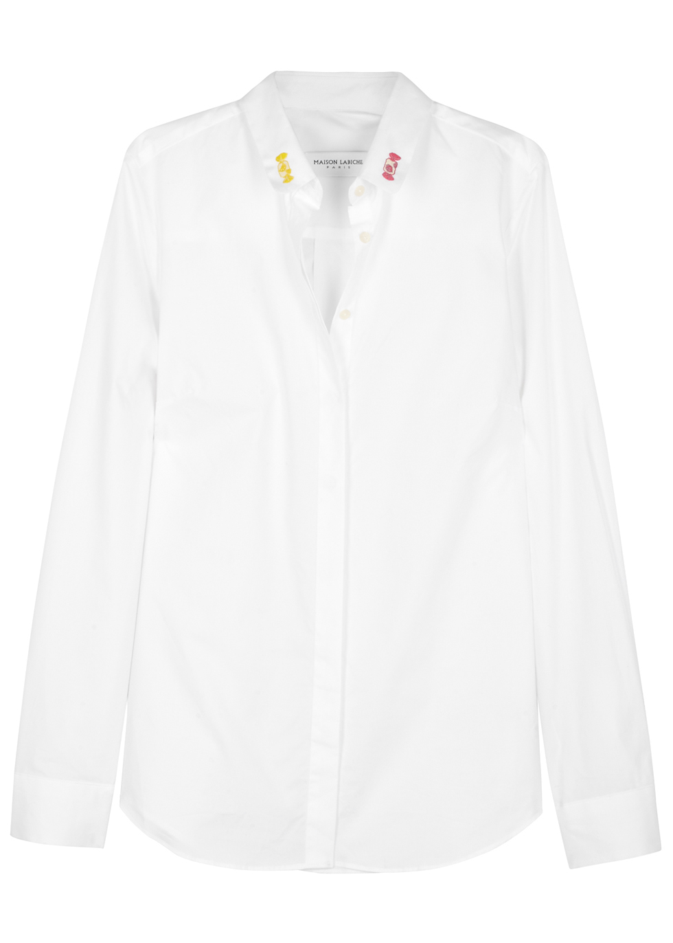CLAUDINE BONBON EMBROIDERED COTTON SHIRT