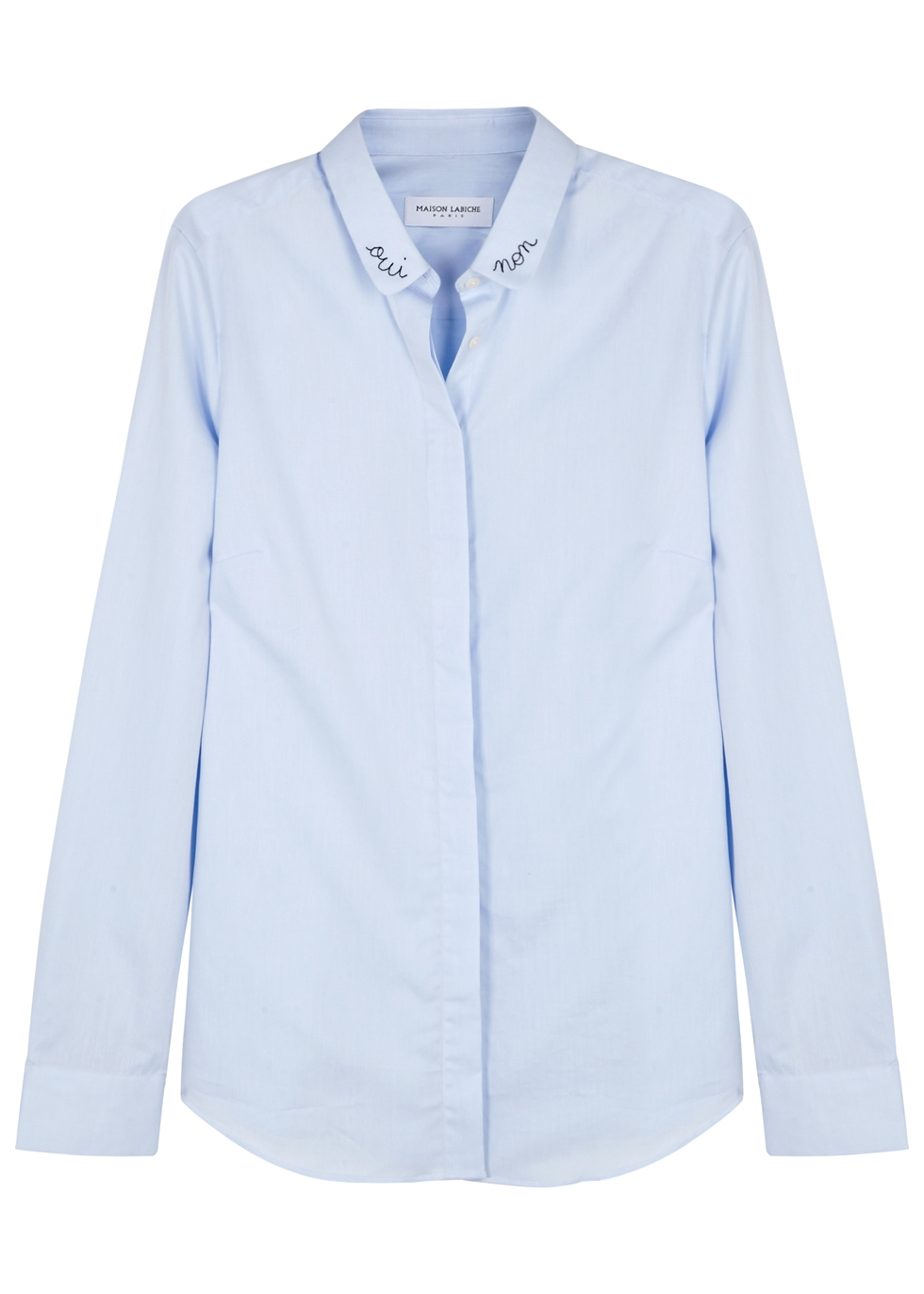 CLAUDINE OUI NON EMBROIDERED COTTON SHIRT