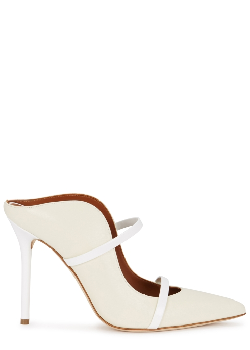 6d5d199e4365 Malone Souliers Maureen 100 ivory leather mules - Harvey Nichols
