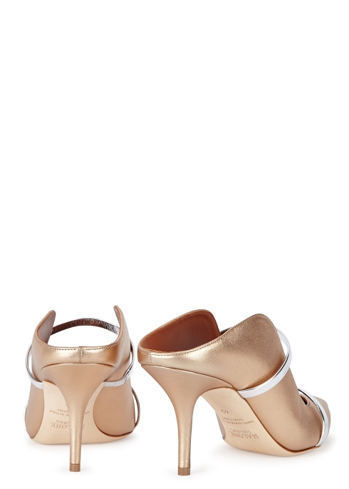 2d335e1ed40d Malone Souliers Maureen 70 gold leather mules - Harvey Nichols