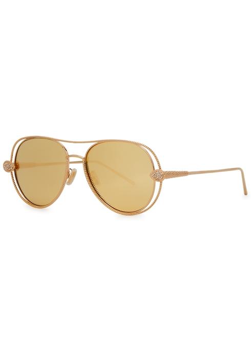 a3413b1f674 Boucheron Serpent Bohème aviator-style sunglasses - Harvey Nichols