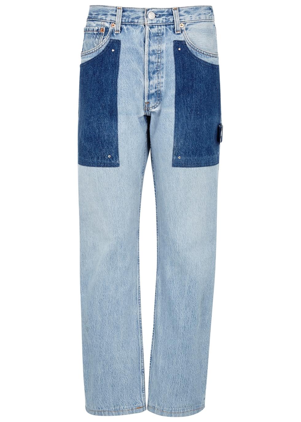 BEAU SOUCI MALIBU BLUE STRAIGHT-LEG JEANS