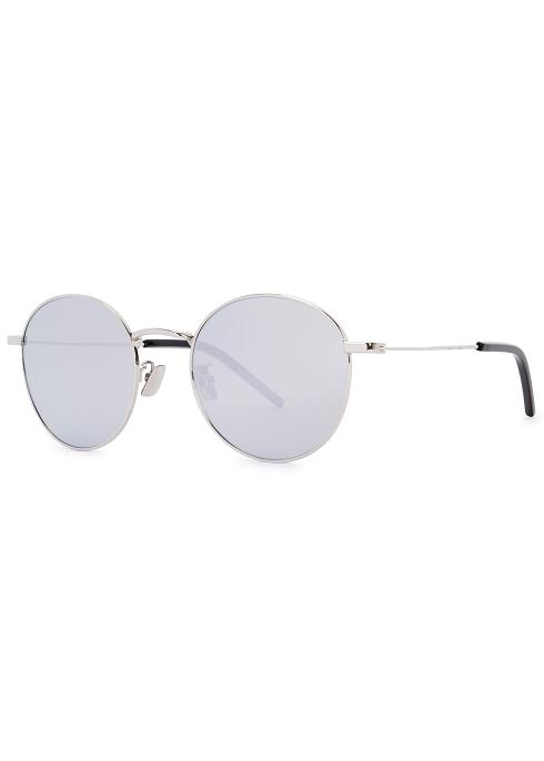 06d9d0cf5af Saint Laurent SL250 mirrored round-frame sunglasses - Harvey Nichols