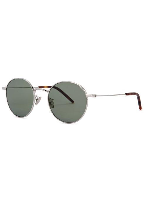 a1c4d0344f9 Saint Laurent SL250 silver-tone round-frame sunglasses - Harvey Nichols