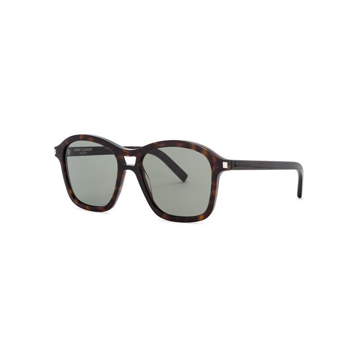 Saint Laurent Tortoiseshell Square-frame Sunglasses