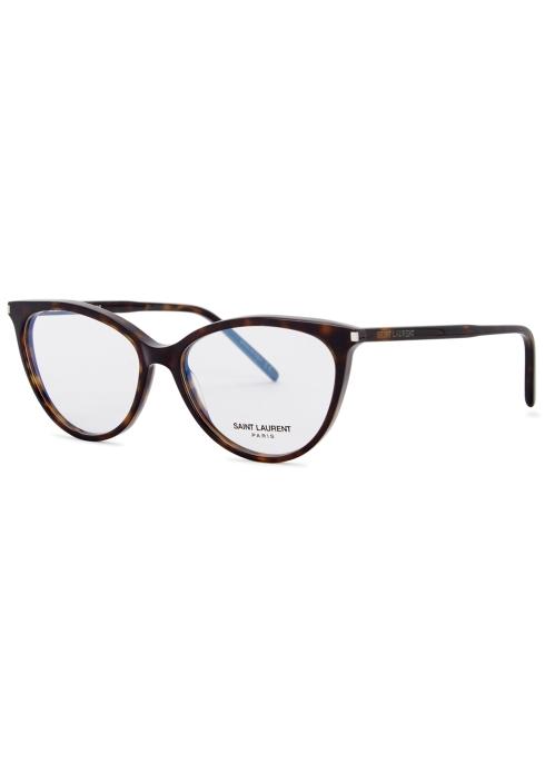 6e768d08273 Saint Laurent Tortoiseshell cat-eye optical glasses - Harvey Nichols