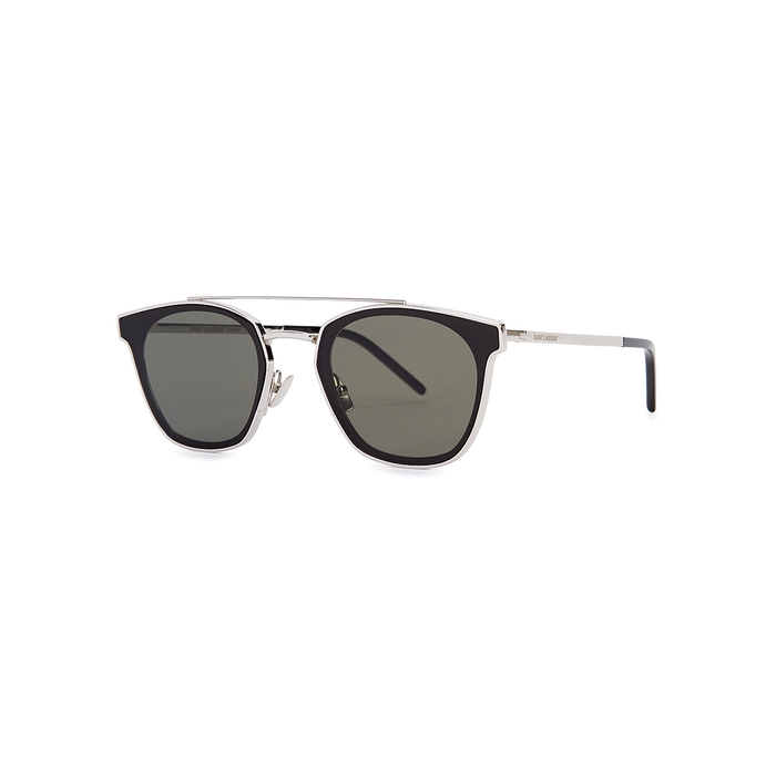 Saint Laurent SL28 Silver-tone Mirrored Sunglasses