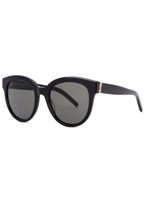 5ab55a53cf Saint Laurent SLM29 black oval-frame sunglasses - Harvey Nichols