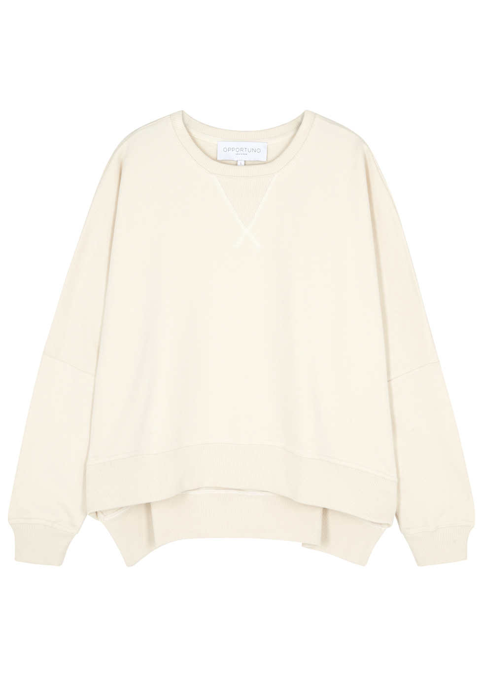 OPPORTUNO Galilea Ecru Cotton Sweatshirt