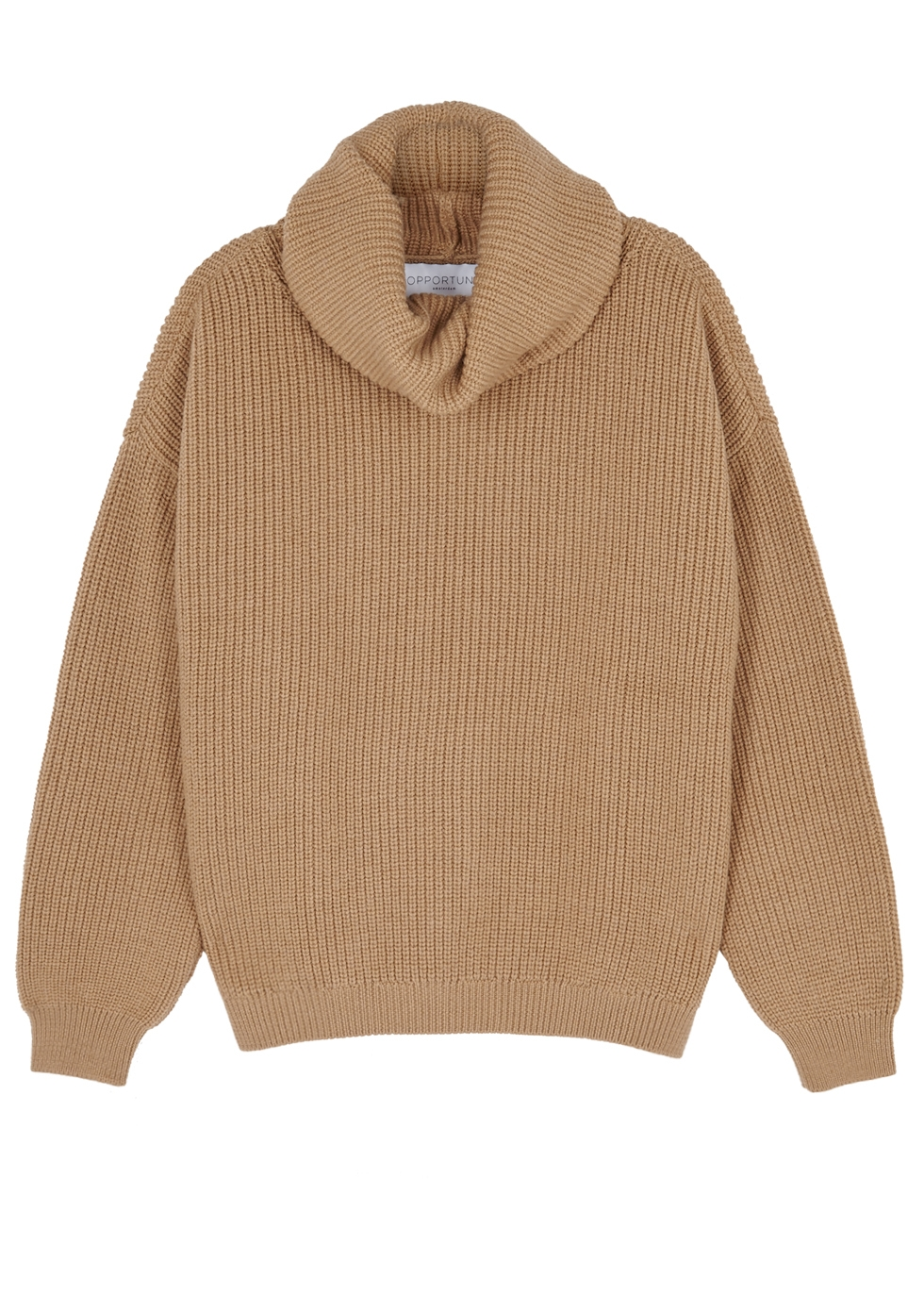 OPPORTUNO Kora Roll-Neck Wool Jumper in Beige