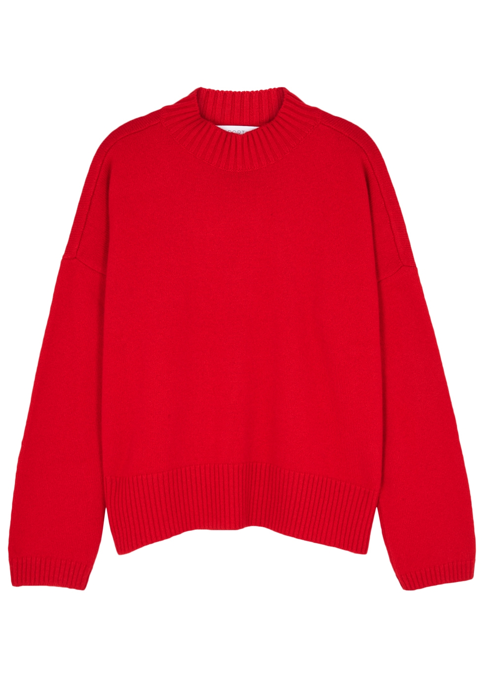 OPPORTUNO Zimra Red Cashmere Jumper