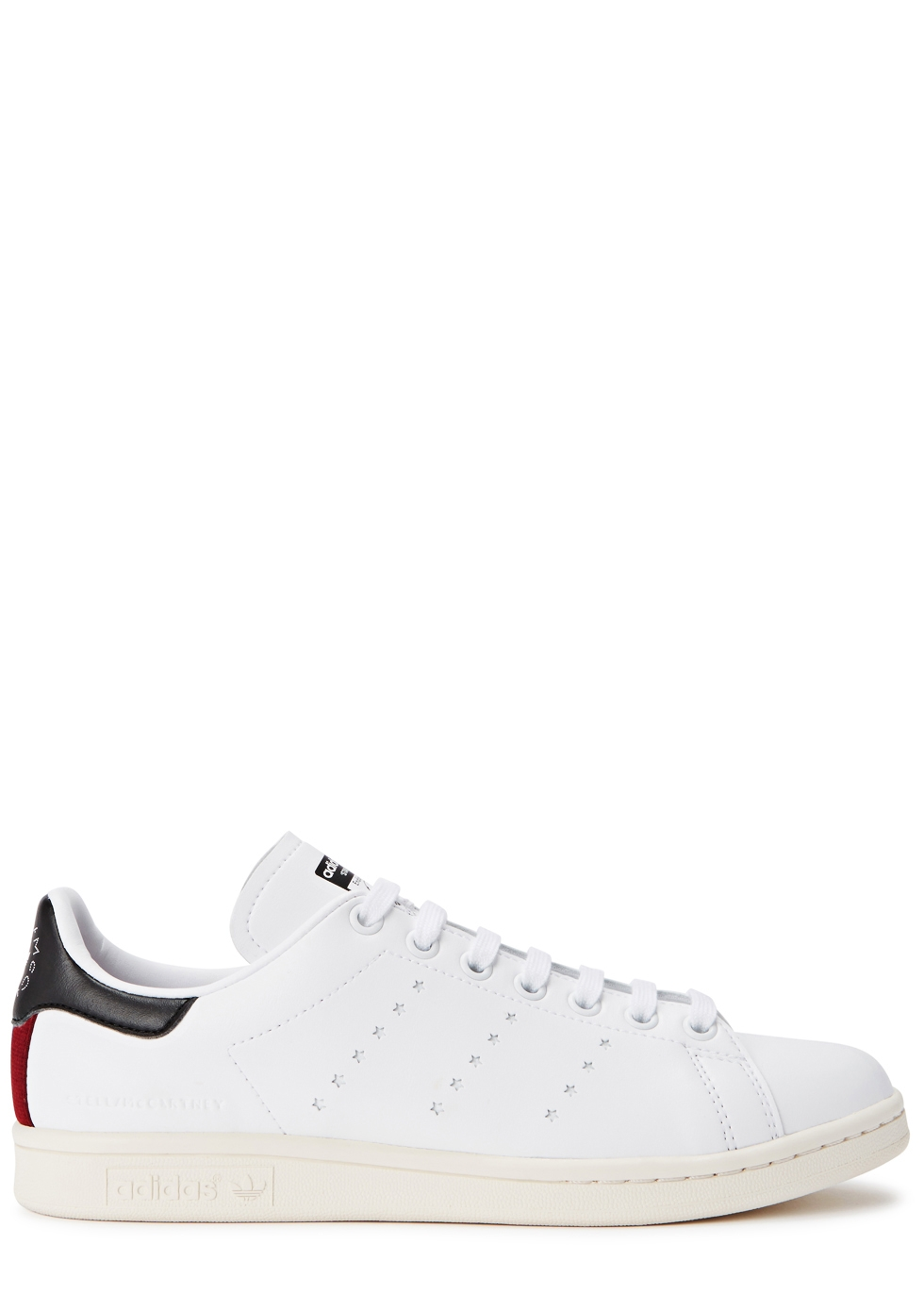 White Adidas Edition Vegan Stan Smith Sneakers in 9096 Wh/Blk