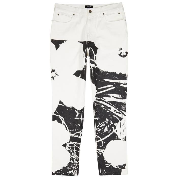 Calvin Klein 205W39NYC Flowers-print Straight-leg Jeans