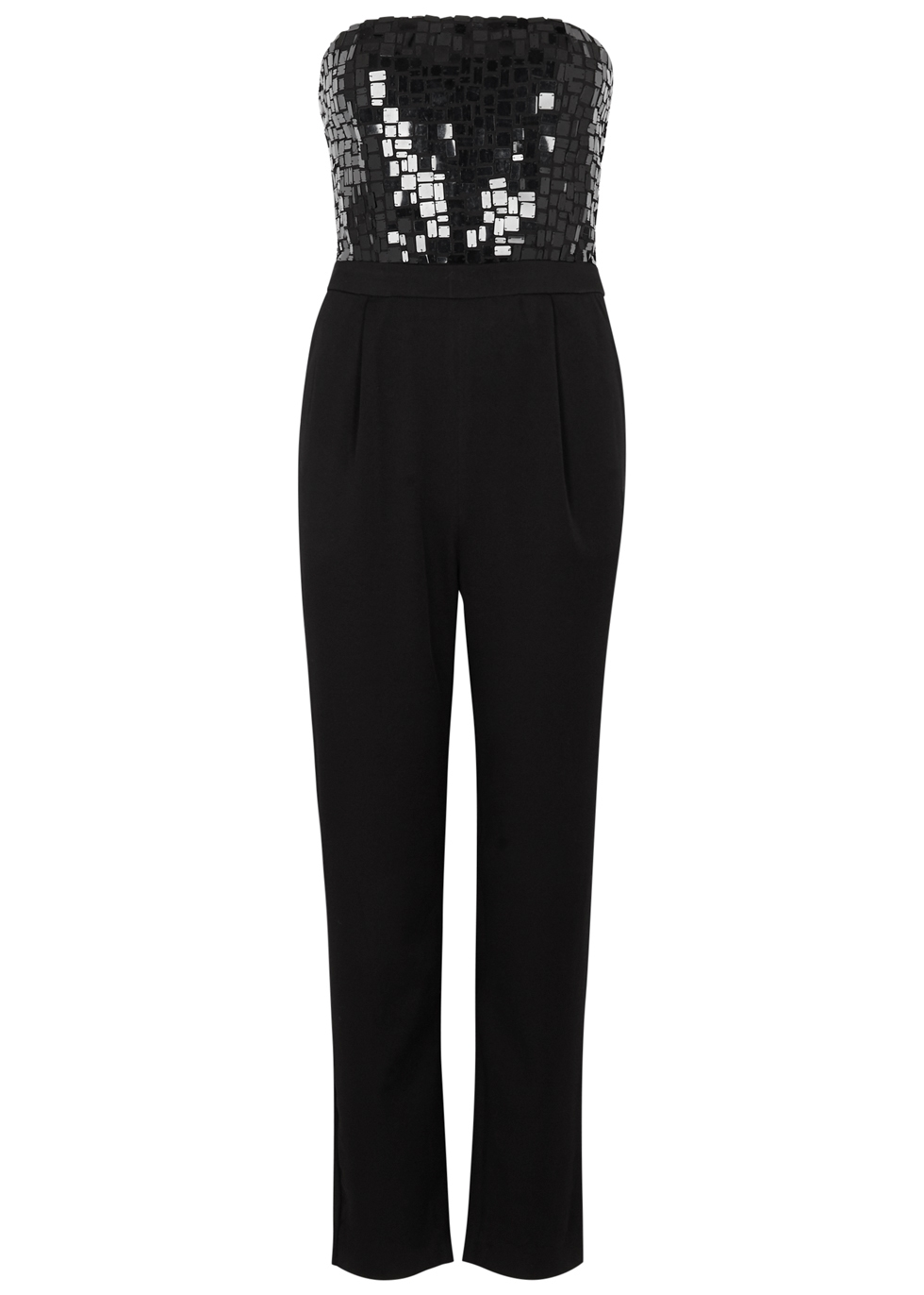 ALICE AND OLIVIA JERI SEQUINNED CROPPED JUMPSUIT