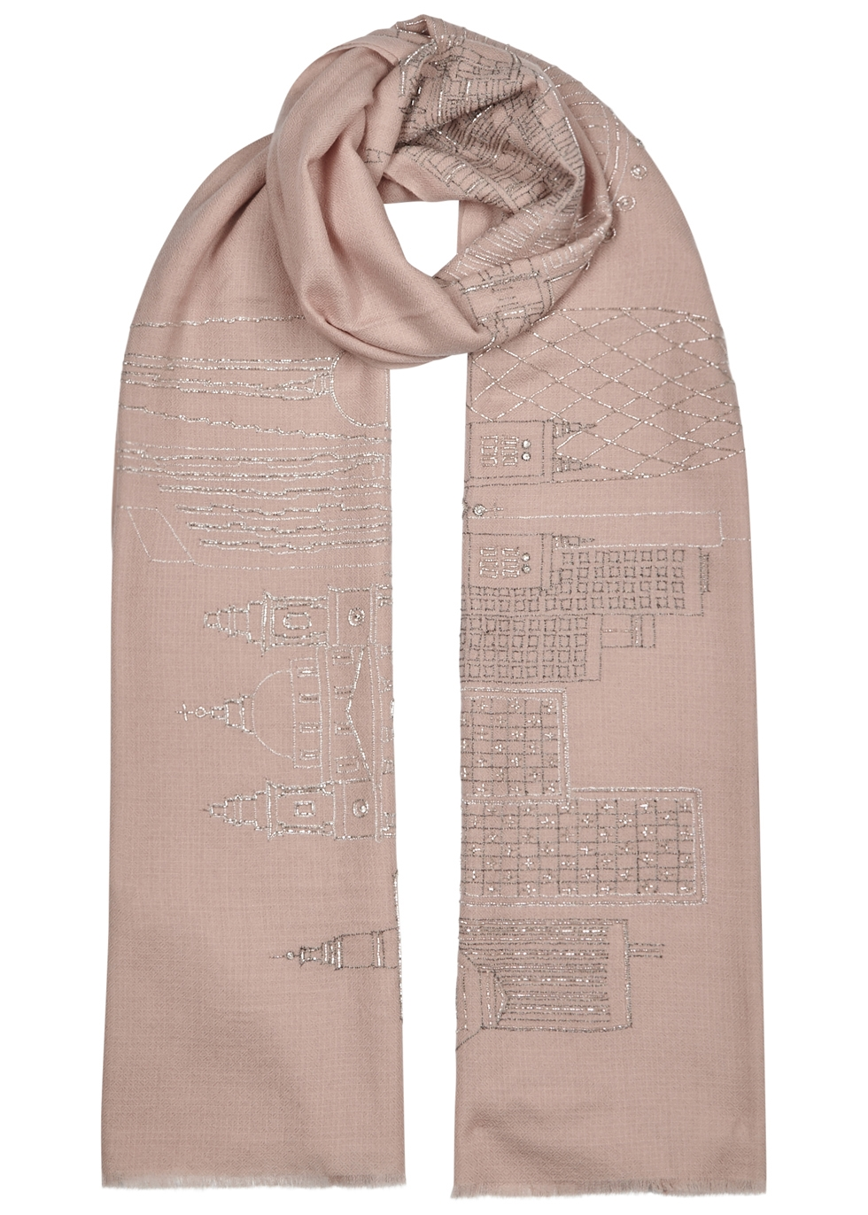 London Skyline merino wool scarf - Janavi
